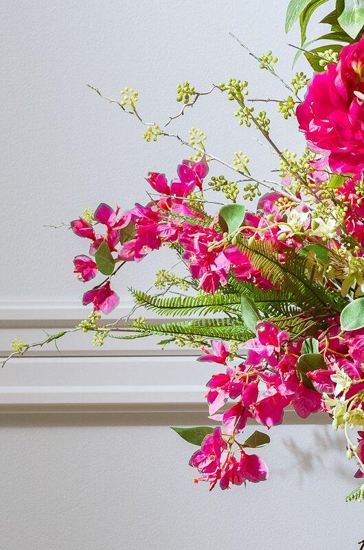 summer artificial flowers arrangement