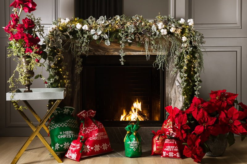 christmas arragement artificial flowers